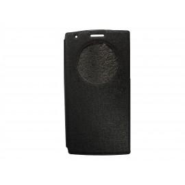 Pochette Inote LG G3 noire + film verre trempé Incassable