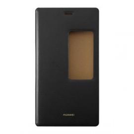 Etui fenêtre à rabat Huawei P8 noir