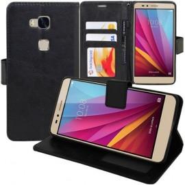 Pochette étui Huawei Honor 5C noir simili cuir