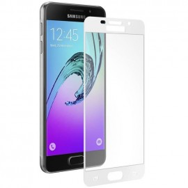 Film verre trempé pour Samsung A5 2016 blanc intégral