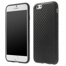 Coque silicone noire effet carbone pour Iphone 6/6S