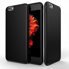 Coque silicone noire effet carbone pour Iphone 7
