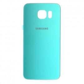 Vitre arrière Samsung Galaxy S6 bleue