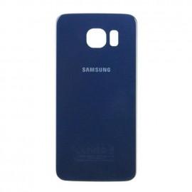 Vitre arrière Samsung Galaxy S6 bleue fonçée