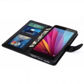 Pochette étui Huawei Honor 6X noir simili cuir