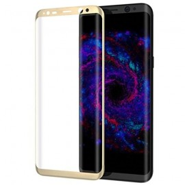 Film verre trempé pour Samsung Galaxy S8 incurvé or