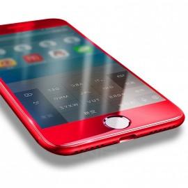 Film verre trempé incurvé pour Iphone 6/6S intégral rouge 5D