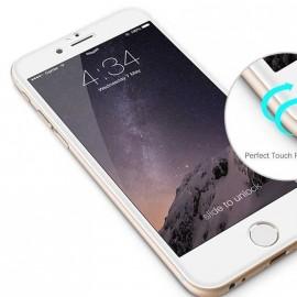 Film verre trempé incurvé pour Iphone 6/6S intégral blanc 5D