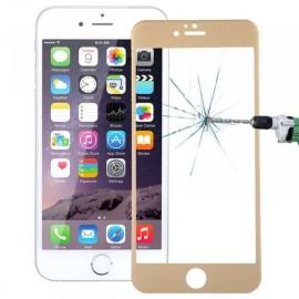 Film verre trempé incurvé pour Iphone 6/6S intégral or 5D