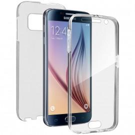 Coque silicone intégrale avant arrière pour Samsung S6