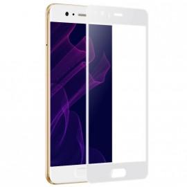 Film verre trempé incurvé pour Huawei P10 Lite intégral blanc 5D
