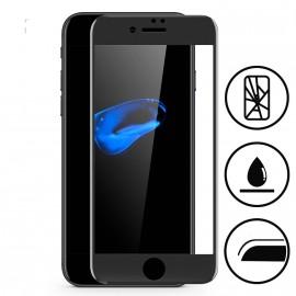 Film verre trempé incurvé pour Iphone 8 Plus intégral noir 5D