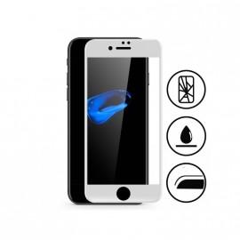 Film verre trempé incurvé pour Iphone 8 intégral blanc 5D