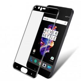 Film verre trempé incurvé pour OnePlus 5 intégral noir 3D