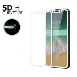 Film verre trempé incurvé pour Iphone X intégral blanc 5D