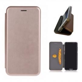 Etui pochette porte cartes pour Samsung Galaxy S8 rose or
