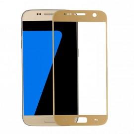 Film verre trempé incurvé intégral pour Samsung A7 2017 blanc