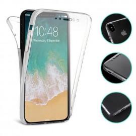 Coque silicone intégrale avant arrière pour Iphone X