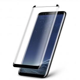 Film verre trempé pour Samsung Galaxy S8 incurvé noir full glue