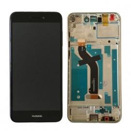 Ecran LCD origine Huawei P8 Lite 2017 noir monté sur chassis