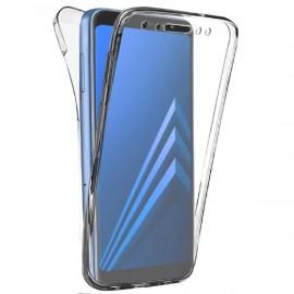 Coque silicone intégrale avant arrière pour Samsung A8