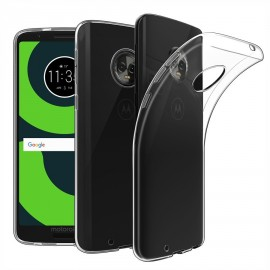 Coque silicone transparente pour Moto G6 Plus