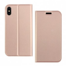 Etui pochette porte cartes pour Iphone XS rose or
