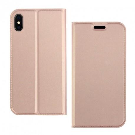 Etui pochette porte cartes pour Huawei P20 Pro rose or