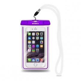 Pochette étanche Tactile Waterproof norme IP68 violette