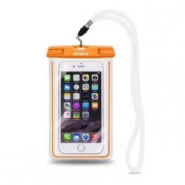 Pochette ROMIX étanche Tactile Waterproof norme IP68 orange