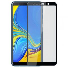 Film verre trempé pour Samsung A7 2018 intégral noir