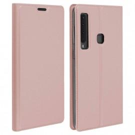 Etui pochette porte cartes pour Samsung A9 2018  rose or