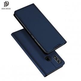 Etui pochette porte cartes pour Samsung A8 bleu nuit