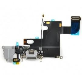 Connecteur de charge + micro + prise jack noir pour Iphone 6