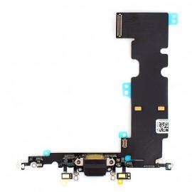 Connecteur de charge + micro + prise jack noir pour Iphone 8