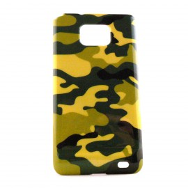 Coque pour Samsung I9100 Galaxy S2 camouflage militaire + film protection ecran offert