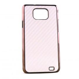 Coque pour Samsung I9100 Galaxy S2 effet carbonne + film protection ecran offert