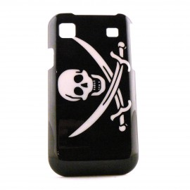 Coque pour Samsung I9000 Galaxy S drapeau pirate N°1+ film protection ecran offert