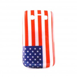 Coque rigide drapeau Etats Unis/USA Blackberry 9700 Bold + film protection ecran offert