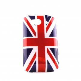 Coque HTC G13 Wildfire S rigide drapeau UK/Angleterre + film protection écran offert