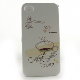 Coque integrale tasse de café pour Iphone 4 + film protection ecran