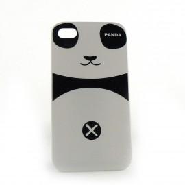 Coque blanche motif panda pour Iphone 4 + film protection ecran