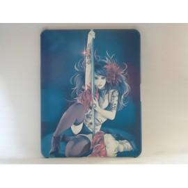 """Coque motif """"manga"""" jeune fille dansant autour d'une barre Ipad 1 + film protection ecran offert"""
