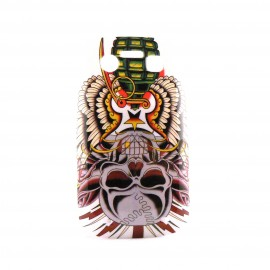 Coque rigide et brillante tête de mort grenade pour Blackberry 9700 Bold  + film protection écran offert