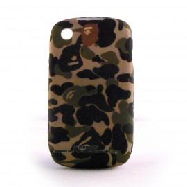 Coque silicone tenue de camouflage / militaire pour Blackberry 8520 curve+ film protection ecran offert