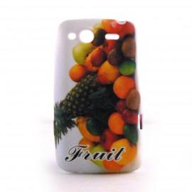 Coque silicone avec des fruits pour Blackberry 8520 curve+ film protection ecran offert