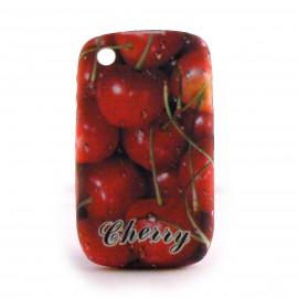 Coque silicone avec des cerises pour Blackberry 8520 curve+ film protection ecran offert