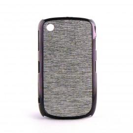 Coque blanche paillettes argent contour effet metal Blackberry 8520 curve+ film protection ecran offert