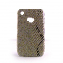 Coque beige peau de serpent Blackberry 8520 curve+ film protection ecran offert