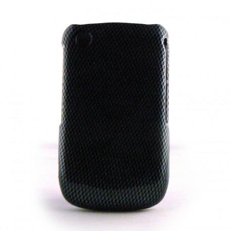Coque en 2 parties semi-integrale damier noir et gris Blackberry 8520 curve+ film protection ecran offert